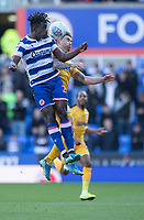 Preston North End's Sean Maguire (right) battles with Reading's Pele (left) <br /> <br /> Photographer David Horton/CameraSport<br /> <br /> The EFL Sky Bet Championship - Reading v Preston North End - Saturday 19th October 2019 - Madejski Stadium - Reading<br /> <br /> World Copyright © 2019 CameraSport. All rights reserved. 43 Linden Ave. Countesthorpe. Leicester. England. LE8 5PG - Tel: +44 (0) 116 277 4147 - admin@camerasport.com - www.camerasport.com