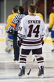 TJ Syner (UMass - 14) - Sweden's Under-20 team played its last game on this Massachusetts tour versus the University of Massachusetts-Amherst Minutemen losing 5-1 on Saturday, November 6, 2010, at the Mullins Center in Amherst, Massachusetts.