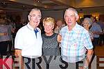 Fundraising ceili at the Devon Inn Hotel, Templeglantine for Fr. Chris O'Donnel and his missions in Argentina. Pictured L-R: Pat O'Riordan of Tralee, Christina Brouder of Carrigkerry and Jerry O'Rourke of Abbeyfeale.