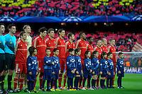 BARCELONA, ESPANHA, 01 DE MAIO 2013 - FC BAYERN DE MUNIQUE X BARCELONA - Jogadores do FC Bayern de Munique, durante partida entre FC Bayern de Munique e Barcelona no Estadio Camp Nou, em Bacelona, pela Liga dos Campeoes na tarde desta quarte-feira, 01 FOTO: PIXATHLON - BRAZIL PHOTO PRESS.