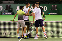 Rotterdam, Netherlands, 12 Februari, 2018, Ahoy, Tennis, ABNAMROWTT, Damir Dzumhur (BIH) / Filip Krajinovic (SRB), Nedad Zimonjic (SRB) / Andrey Rublev (RUS)<br /> Photo:tennisimages.com