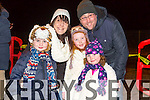John Kirby, Juliann Prendiville, Roan Kirby, Shauna Kirby, Nessa Kirby, Ardfert  enjoyng  the New Year's Eve fireworks display at Manor on Wednesday evening