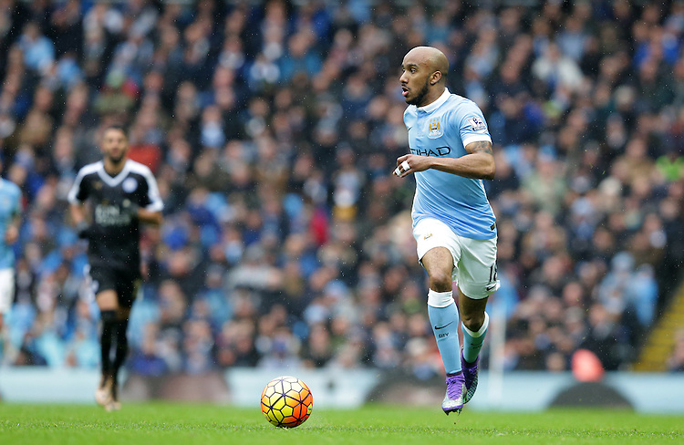 Manchester City's Fabian Delph<br /> <br /> Photographer Stephen White/CameraSport<br /> <br /> Football - Barclays Premiership - Manchester City v Leicester City - Saturday 6th February 2016 -  Etihad Stadium - Manchester<br /> <br /> &copy; CameraSport - 43 Linden Ave. Countesthorpe. Leicester. England. LE8 5PG - Tel: +44 (0) 116 277 4147 - admin@camerasport.com - www.camerasport.com