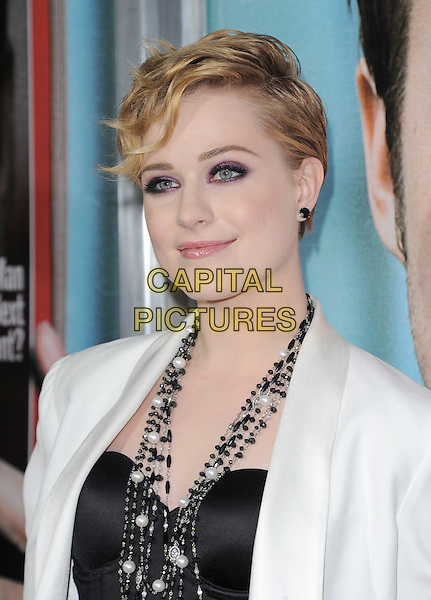 Evan Rachel Wood.The L.A. Premiere of 'The Ides of March' held at The Academy of Motion Picture Arts & Sciences  in Beverly Hills, California, USA..September 27th, 2011.headshot portrait black white pearl necklace smokey eyes make-up beauty .CAP/RKE/DVS.©DVS/RockinExposures/Capital Pictures.