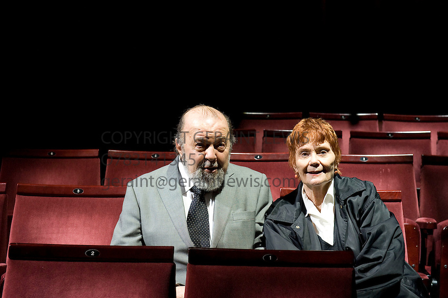Peter Hall with Thelma Holt,Theatre Producer,  at The Duke of Yorks Theatre  on 30/3/10 Credit Geraint Lewis