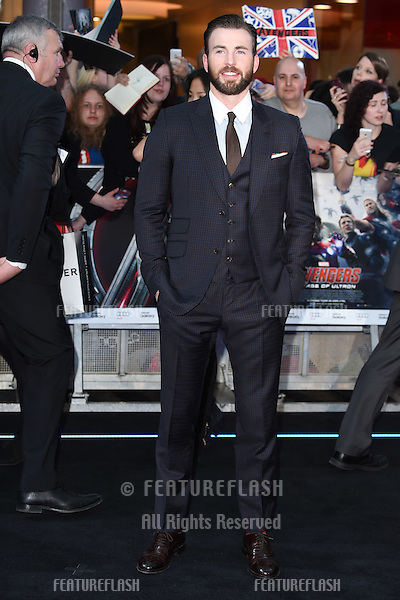 "Chris Evans arrives for the ""Avengers: Age of Ultron"" European premiere at the Vue cinema, Westfield London. 21/04/2015 Picture by: Steve Vas / Featureflash"