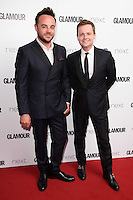Ant McPartlin and Declan Donnelley<br /> arrives for the Glamour Women of the Year Awards 2016, Berkley Square, London.<br /> <br /> <br /> &copy;Ash Knotek  D3130  07/06/2016