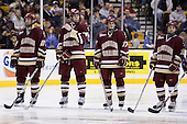 Benn Ferriero (BC - 21), Kyle Kucharski (BC - 18), Brian Gibbons (BC - 17), Joe Whitney (BC - 15) - The Boston College Eagles defeated the University of Vermont Catamounts 4-0 in the Hockey East championship game on Saturday, March 22, 2008, at TD BankNorth Garden in Boston, Massachusetts.