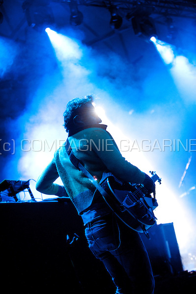 Concert of the Belgian electro band Magnus at the Rivierenhof in Antwerp (Belgium, 21/08/2014)