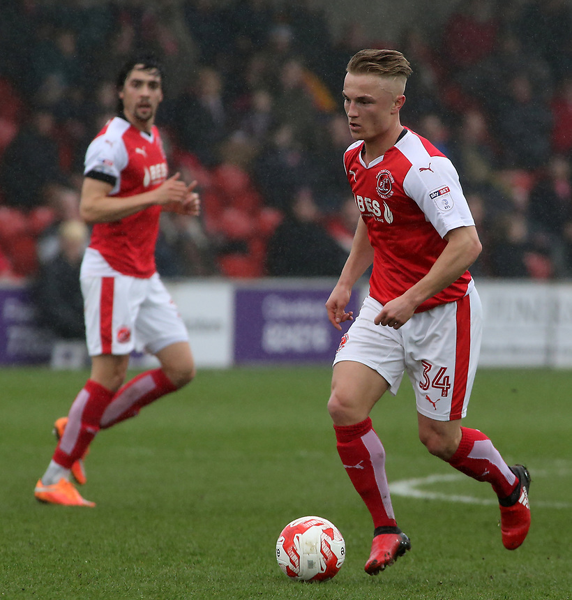Fleetwood Town's Kyle Dempsey in action  <br /> <br /> Photographer David Shipman/CameraSport<br /> <br /> The EFL Sky Bet League One - Fleetwood Town v AFC Wimbledon - Saturday 18th March 2017 - Highbury Sadium - Fleetwood<br /> <br /> World Copyright &copy; 2017 CameraSport. All rights reserved. 43 Linden Ave. Countesthorpe. Leicester. England. LE8 5PG - Tel: +44 (0) 116 277 4147 - admin@camerasport.com - www.camerasport.com