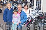 Sarah, Sinead, John and Liza McCann Killorglin at the Irish Motorbike rally in the Gleneagle Hotel Killarney on Saturday.