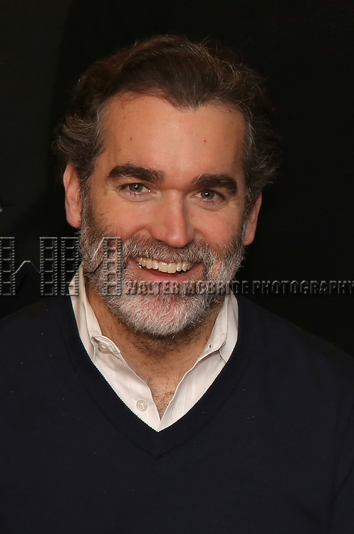 """Brian d'Arcy James attends the """"The Ferryman"""" cast change photo call on January 17, 2019 at the Sardi's in New York City."""