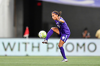 Orlando, FL - Saturday Sept. 24, 2016: Kristen Edmonds during a regular season National Women's Soccer League (NWSL) match between the Orlando Pride and FC Kansas City at Camping World Stadium.