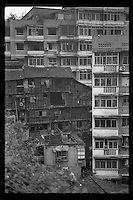 Old buildings are seen in Shibati slum area of Chongqing, China's southwestern municipality, in April, 2011.