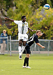 17 October 2007: The University of Vermont Catamounts' Lee Stephane Kouadio, a Junior from Woodlyn, PA, in action against the University of Maryland Retrievers at Historic Centennial Field in Burlington, Vermont. The Catamounts and Retrievers battled to a scoreless, double-overtime tie...Mandatory Photo Credit: Ed Wolfstein Photo