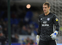 Cardiff City's Alex Smithies during the game <br /> <br /> Photographer Ian Cook/CameraSport<br /> <br /> The EFL Sky Bet Championship - Cardiff City v Queens Park Rangers - Wednesday 2nd October 2019  - Cardiff City Stadium - Cardiff<br /> <br /> World Copyright © 2019 CameraSport. All rights reserved. 43 Linden Ave. Countesthorpe. Leicester. England. LE8 5PG - Tel: +44 (0) 116 277 4147 - admin@camerasport.com - www.camerasport.com