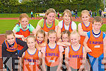 St Mary's, Rathkeale athletes at the Gneeveguilla AC open sports day in An Riocht Castleisland on Saturday front row l-r: Meadbh Power, Tara Coleman, Eadaoin Lyons. Back row: Rachel Lynch, Claire English, Holly Myers, Una Walsh, Ellen Lynch, Catherine Power, Sophie Merdith and Barry Coleman.