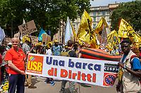 Milano, 20 maggio 2017, Marcia per l'accoglienza, l'integrazione dei migranti e una società multietnica.Milan, 20 May 2017, March for the welcome, integration of migrants and a multiethnic society.