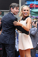 "George Stephanopoulos dancing with Katherine Jenkins from ""Dancing With the Stars"" Season 14 outside ABC's ""Good Morning America"" Times Square studio in New York, 23.05.2012..Credit: Rolf Mueller/face to face / Mediapunchinc"