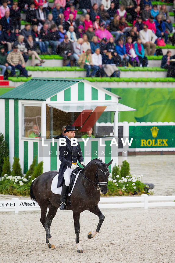 UKR-Maksim Kovshov (FLIRT) INTERIM-41ST: GRAND PRIX: Team Competition (Qualifier for the Grand Prix Special) The Alltech FEI World Equestrian Games 2014 In Normandy - France (Monday 25 August) CREDIT: Libby Law COPYRIGHT: LIBBY LAW PHOTOGRAPHY - NZL