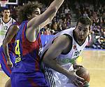 Euroleague el FC Barcelona guanya 83 -82 al Panathinaikos en el primer partit del playoff. Kaimakoglou Intenta superar Grimau i tirar a cistella