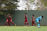 MONTERIA - COLOMBIA, 02-03-2019: Maicol Balanta (#25) de Tolima celebra después de anotar el segundo gol de su equipo durante el partido por la fecha 8 de la Liga Águila I 2019 entre Jaguares de Córdoba y Deportes Tolima jugado en el estadio Jaraguay de la ciudad de Montería / Maicol Balanta (#25) of Tolima celebrates after scoring the second goal of his team during match for the date 8 as part Aguila League I 2019 between Jaguares de Cordoba and Deportes Tolima played at Jaraguay stadium in Monteria city. Photo: VizzorImage / Andres Felipe Lopez / Cont