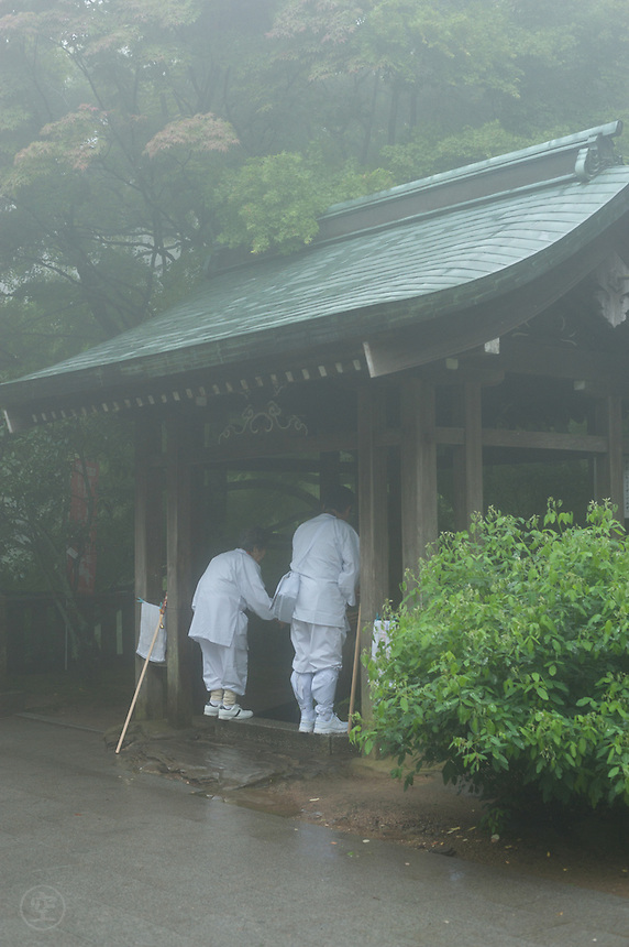 Atmospheric in the mist in the Kagawa mountains, Negori-ji Temple is number 82 on the 88 temple pilgrimage that makes Shikoku famous.