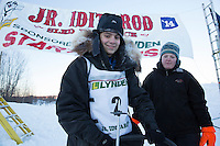Jimmy Lanier portrait at the finish line of the 2014 Jr. Iditarod Sled Dog Race at Happy Trails Kennel, Big Lake, Alaska<br /> Sunday February 23, 2014 <br /> <br /> Junior Iditarod Sled Dog Race 2014<br /> PHOTO BY JEFF SCHULTZ/IDITARODPHOTOS.COM  USE ONLY WITH PERMISSION