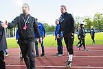 Uppsala 2015-05-21 Fotboll Superettan IK Sirius - Mj&auml;llby AIF :  <br /> Mj&auml;llbys tr&auml;nare Hans Larsson ser nedst&auml;md ut efter matchen mellan IK Sirius och Mj&auml;llby AIF <br /> (Foto: Kenta J&ouml;nsson) Nyckelord:  Superettan Sirius IKS Mj&auml;llby AIF depp besviken besvikelse sorg ledsen deppig nedst&auml;md uppgiven sad disappointment disappointed dejected tr&auml;nare manager coach