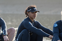 Putney, London,  Tideway Week, Championship Course. River Thames, <br /> <br /> Tuesday  28/03/2017<br /> [Mandatory Credit; Credit: Peter Spurrier/Intersport Images.com ]<br />  <br /> OUWBC. No. 7: Emily Cameron &ndash; CAN,