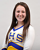 Diana Scarth of Comsewogue poses for a portrait during the Newsday All-Long Island cheerleading photo shoot at company headquarters on Tuesday, Mar. 15, 2016.
