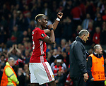 Paul Pogba of Manchester United celebrates during the Europa League Semi Final 2nd Leg match at Old Trafford Stadium, Manchester. Picture date: May 11th 2017. Pic credit should read: Simon Bellis/Sportimage