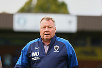 AFC Wimbledon manager, Wally Downes during AFC Wimbledon vs Wycombe Wanderers, Sky Bet EFL League 1 Football at the Cherry Red Records Stadium on 31st August 2019