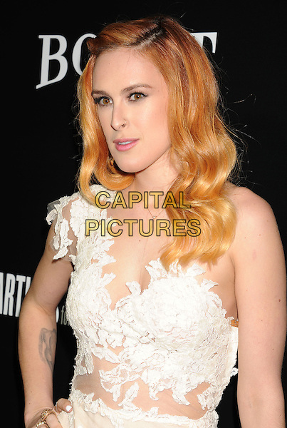 HOLLYWOOD, CA- FEBRUARY 27: Actress Rumer Willis arrives at the Hollywood Domino's 7th Annual Pre-Oscar Charity Gala at Sunset Tower on February 27, 2014 in West Hollywood, California.<br /> CAP/ROT/TM<br /> &copy;Tony Michaels/Roth Stock/Capital Pictures