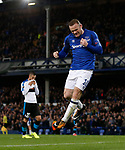 Wayne Rooney of Everton celebrates scoring during the Europa League Group E match at Goodison Park Stadium, Liverpool. Picture date: September 28th 2017. Picture credit should read: Simon Bellis/Sportimage