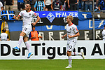 11.08.2019, Carl-Benz-Stadion, Mannheim, GER, DFB Pokal, 1. Runde, SV Waldhof Mannheim vs. Eintracht Frankfurt, <br /> <br /> DFL REGULATIONS PROHIBIT ANY USE OF PHOTOGRAPHS AS IMAGE SEQUENCES AND/OR QUASI-VIDEO.<br /> <br /> im Bild: Filip Kostic (Eintracht Frankfurt #10) jubelt ueber sein Tor zum 2:2 mit Martin Hinteregger (Eintracht Frankfurt #13)<br /> <br /> Foto © nordphoto / Fabisch