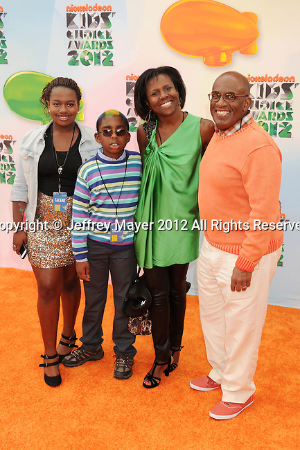 LOS ANGELES, CA - MARCH 31: Al Roker and family arrive at the 2012 Nickelodeon Kids' Choice Awards at Galen Center on March 31, 2012 in Los Angeles, California.