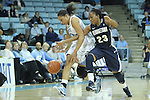 14 November 2012: Georgetown's Samisha Powell (23) and North Carolina's Krista Gross (left). The University of North Carolina Tar Heels played the Georgetown University Hoyas at Carmichael Arena in Chapel Hill, North Carolina in an NCAA Division I Women's Basketball game, and a semifinal in the Preseason WNIT. UNC won the game 63-48.