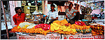 Flower sellers in Jaipur, Rajastan. India is the second most populous country in the world. with over a 1 billion people. There are many World Heritage UNESCO sites there including the Taj Mahal, Gateway of India and the princely palaces of the Maharaj.