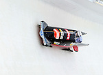 18 December 2010: Stefanie Szczurek pilots her 2-man bobsled for Germany, finishing in 8th place at the Viessmann FIBT World Cup Bobsled Championships on Mount Van Hoevenberg in Lake Placid, New York, USA. Mandatory Credit: Ed Wolfstein Photo