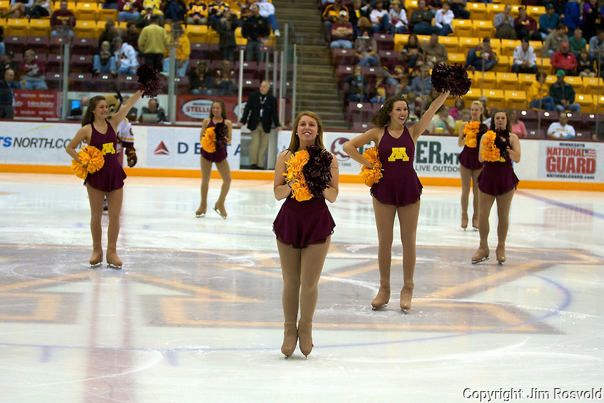 8 Oct 10:  Minnesota Cheerleaders. The University of Minnesota plays host to Sacred Heart in a non-conference matchup at Mariucci Arena in Minneapolis, MN.