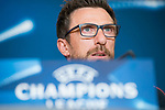 Roma coach Eusebio Di Francesco during press conference the day before champions league match between Atletico de Madrid and Roma at Wanda Metropolitano in Madrid, Spain. November 21, 2017. (ALTERPHOTOS/Borja B.Hojas)