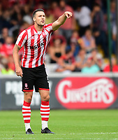 Lincoln City's Jason Shackell<br /> <br /> Photographer Chris Vaughan/CameraSport<br /> <br /> The EFL Sky Bet League Two - Lincoln City v Swindon Town - Saturday 11th August 2018 - Sincil Bank - Lincoln<br /> <br /> World Copyright &copy; 2018 CameraSport. All rights reserved. 43 Linden Ave. Countesthorpe. Leicester. England. LE8 5PG - Tel: +44 (0) 116 277 4147 - admin@camerasport.com - www.camerasport.com