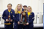 COLUMBUS, OH - MARCH 11: Murray State University stands with the third place trophy during the Division I Rifle Championships held at The French Field House on the Ohio State University campus on March 11, 2017 in Columbus, Ohio. (Photo by Jay LaPrete/NCAA Photos via Getty Images)