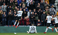 Derby County's Mason Mount celebrates scoring his side's third goal <br /> <br /> Photographer Andrew Kearns/CameraSport<br /> <br /> The EFL Sky Bet Championship - Derby County v Bolton Wanderers - Saturday 13th April 2019 - Pride Park - Derby<br /> <br /> World Copyright &copy; 2019 CameraSport. All rights reserved. 43 Linden Ave. Countesthorpe. Leicester. England. LE8 5PG - Tel: +44 (0) 116 277 4147 - admin@camerasport.com - www.camerasport.com