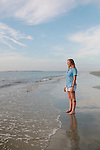 Kimberly Andrews, research coordinator for the Jekyll Island Georgia Sea Turtle Center, stands for a portrait on the beach of Jekyll Island, Georgia at dawn August 15, 2013.