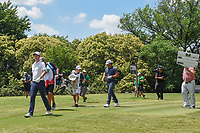 Justin Rose (GBR) and Brooks Koepka (USA) head down 9 during round 4 of the Fort Worth Invitational, The Colonial, at Fort Worth, Texas, USA. 5/27/2018.<br /> Picture: Golffile | Ken Murray<br /> <br /> All photo usage must carry mandatory copyright credit (© Golffile | Ken Murray)