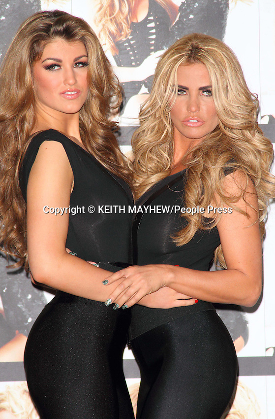 London - Katie Price introduces the winner of her Sky Living TV show 'Signed by Katie'- Amy Willerton - at a Photocall at Worx Studio, London - January 19th 2012..Photo by Keith Mayhew