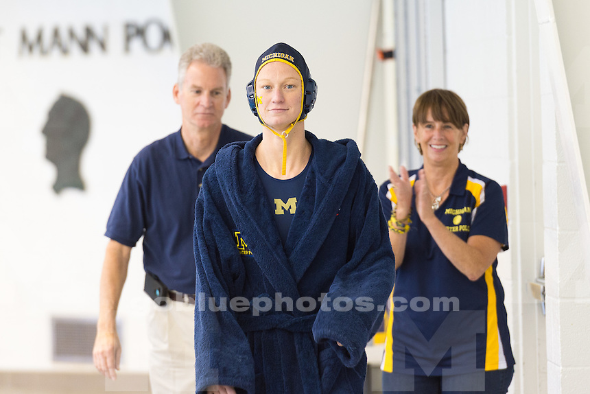 The University of Michigan water polo team defeated Indiana,13-12 (2OT), on senior night at Canham Natatorium in Ann Arbor, MI., on Apr. 04, 2015.