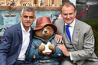 Mayor Sadiq Khan &amp; Hugh Bonneville at the &quot;Paddington's Pop-Up London&quot; launch, London, UK. <br /> 19 October  2017<br /> Picture: Steve Vas/Featureflash/SilverHub 0208 004 5359 sales@silverhubmedia.com